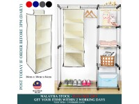 4 Tier Hanging Wardrobe Organizer Clothes Storage