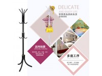12 Hooks Coat Rack Hanger Trees Free Standing Pole for Clothes Hat Jacket Umbrella Handbag