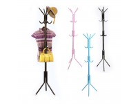 12 Hooks Coat Rack Hanger Trees Free Standing Pole for Clothes Hat Jacket Umbrella Handbag