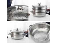 1 2 3 Tier Stainless Steel Steamer Pot Steamboat Hotpot Cooker with TWO HANDLE ONLY