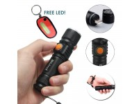 Powerful Mini LED Flashlight Rechargeable USB CREE Q5 Torch Zoom Lamp Waterproof