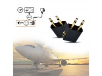 Flight Airplane Audio Adapter Headphone Jack Converter Plug Socket