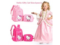 Korean Style Hello Kitty School Backpack Shoulder Spine Protection Kids Bow Girls