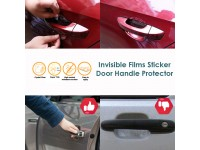 4 pcs Invisible Clear Car Door Handle Paint Scratch Protector Guard Film Sheet