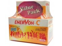 UNITED AMERICAN Enervon-C Vitamin B-Complex with 500mg Vitamin C, 100 flim tablets + FOC 30 film tablets
