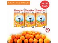 FLAVETTES Vitamin C 500mg Orange Sugar Free Chewable Tablet TRIPLE VALUE PACK