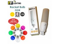 FF Lighting LED Rocket Bulb 13W Day Light 6000K G24 Lamps for Decor Living Room Lampu