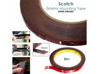 8M Scotch Original Exterior Double Side Mounting Tape Outdoor (10 MM x 8 M)