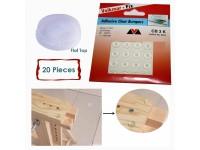 [20 Pcs] Self Adhesive Clear Bumpers Door Buffer Pad Flat Top 12mm Diameter