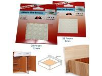 Self Adhesive Clear Bumpers Door Buffer Pad 8mm or 12mm Diameter Round Top