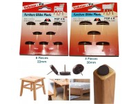 Pad Protector Furniture Glides Plastics Glide Nails for Leg Feet Chair Table 22mm, 25mm or 30mm Diameter