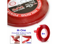 M-One Stickers Double Sided Acrylic Foam Tape Strong Holding Power for Car or Home Decoration (Clear) 10MMx8M