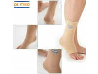 Dr Med Elastic Ankle Sleeve DR-A010 Day & Night Wear Ankle Protection Proprioception Muscle Weakness Traumas & Contusions Tendonitis Bursitis & Osteoarthritis