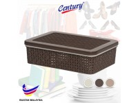 Century Multi Purpose Tray with Cover for Socks, Bras, Underwear, Books Makeup Tools or Baby Cloth - Storage Box Container/Kitchen Organizer/Basket