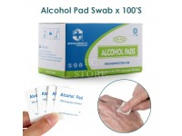 100pcs/Box Alcohol Swabs Pads Skin Cleaning Sterilization 70% Isopropyl