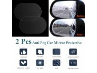 2PCS/Set Anti Fog Car Rearview Mirror Protective Film Rainproof Car Sticker