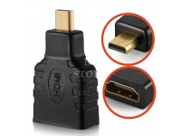 HDMI (F) To Micro HDMI (M) Convertor High Speed Adapter for Gadgets to Gadgets connection