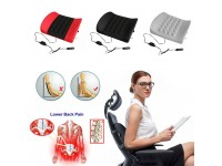 Lumbar Support Pillow Electric Vibration Car Seat Massager Waist Back Pain - Bantal Pengurut Sakit Belakang