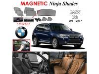 BMW X3 2011-2017 Magnetic Ninja Sun Shade Sunshade UV Protection 7pcs