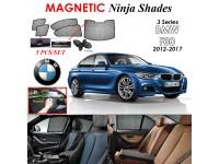 BMW 3 Series F30 2012-2017 Magnetic Ninja Sun Shade Sunshade UV Protection 5pcs