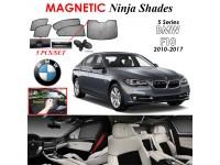 BMW 5 Series F10 2010-2017 Magnetic Ninja Sun Shade Sunshade UV Protection 5pcs