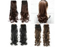 Women Fake Hair Ponytail Long Curly Hair Wig Piece Real Shot Tied Tidy