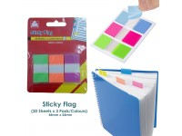 Sticky Flag Note Can Write with Pen Markers Index Tab Film Post-It 44mmx24mm (Green Orange Purple)
