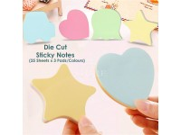 Shape Die Cut Sticky Notes Notepad Pink Green Orange 75 pcs
