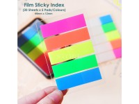 Film Stick Index Can Write with Pen Markers Index Tab Film Post-It 44mmx12mm 100 pc