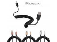 FAST CHARGE Data Short Lightning Cable Spiral  Charger and Data Sync for Apple iPhone iPad Air Coil Charger