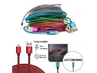 Lightning Charging Lead Cable 1M braided for iPhone 5 6 7 Charger Heavy Duty