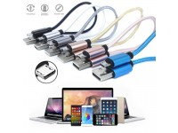 Short Micro USB Cable Nylon Braided Fast Charging Charger Data Sync for Samsung Android