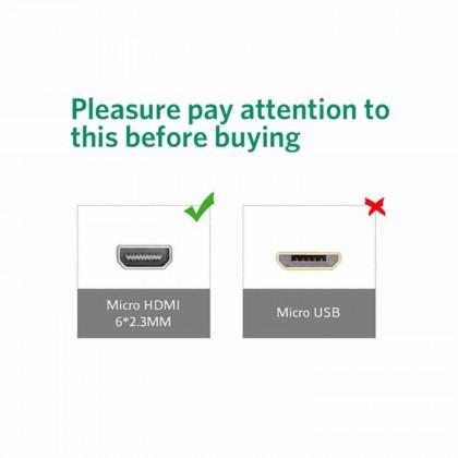 2M 1080P Micro HDMI to HDMI Cable