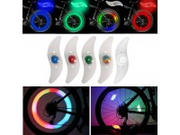 2 Pieces 1 Set Bicycle Wheel Silicone Spoke Light Cycling Equipment Accessories