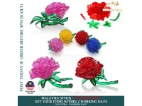 3D Crystal Puzzle Jigsaw Rose Shaped Building Blocks Educational Toys