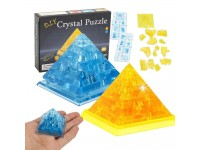 3D Crystal Puzzle Jigsaw Pyramid Shaped Building Blocks Educational Toys