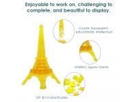 3D Crystal Puzzle Jigsaw Eiffel Tower Shaped Building Blocks Educational Toys