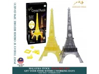 3D Crystal Puzzle Jigsaw Eiffel Tower Shaped Building Blocks Educational Toys