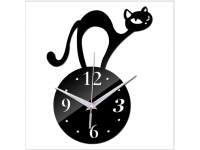 CUTE Wall Clock 3D with Cat for Living Bed Room / Lounge / Kitchen Hall / Office