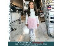 Kids Elegant & Cute Tutu PINK Plush Wool Skirts for Toddler Girls Plush Princess