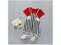 Cute Kids Dungarees & T Shirt with Mickey Bunny Overalls / Jumpsuit / Playsuit
