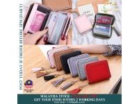 Korean Version Ladies Mini Wallet 20 Card Slot Square Zipper Tassels Small Purse