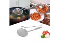 Filter Spoon with Clip Multi-functional Stainless Steel Colander Oil Frying