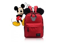 Mickey Mouse Disney Cartoon Red Backpack Kindergarten School Bag Kids Beg Galas