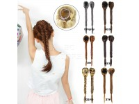 Hair Pony Tail Long Extensions Band Looks Very Real Clip On Wig Wavy Curl Pieces