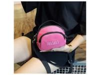 Mini Shoulder Messenger Canvas Bag Oval Cute for Ladies Girl