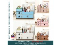 NEW! Cosmetic & Makeup Storage Wooden Box Organiser for Bedroom Table / Rak Laci