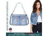 Classic Denim Women Handbags Fashion Jeans Tote Shoulder Canvas Ladies Retro Bag