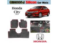 HONDA CITY 2014 EMANON-J Silicon Car Floor Mats Waterproof Carpet 3 Pcs