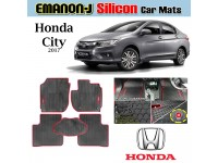 HONDA CITY 2017 EMANON-J Silicon Car Floor Mats Waterproof Carpet 5 PcS